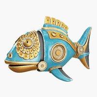 steampunk fish figurine 3D model
