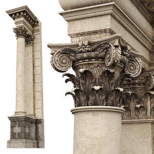 composite order palladio column 3D