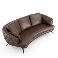 luxury leather sofa clark 3D