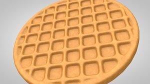 baked waffle food 3D model
