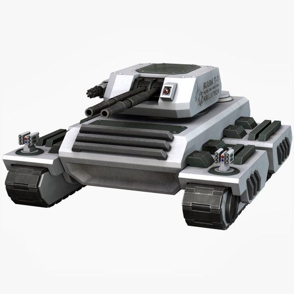 sci fi tank 3D