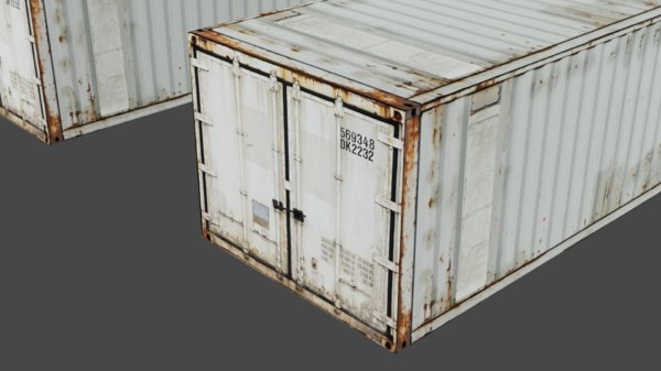 shipbuilding container box highpoly model