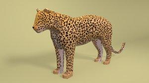 3D leopard cartoon