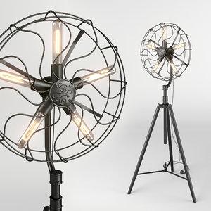 3D floor lamp dialma brown