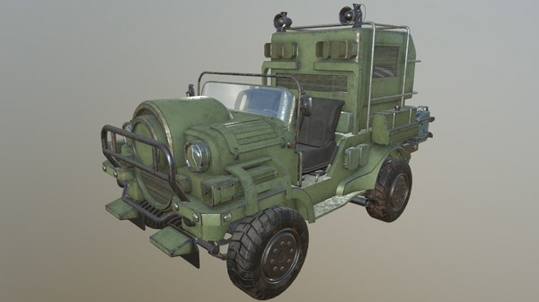 willys jeep car suv 3D model