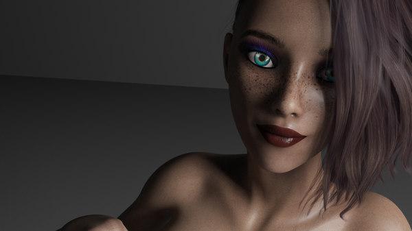 rigged female alana 3D model