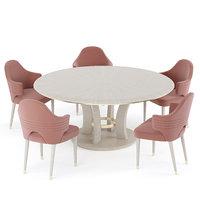table brad chair carol 3D model