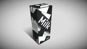 3D carton milk 4k pbr