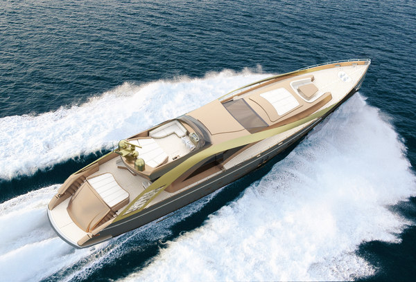 3D super yacht conceptional