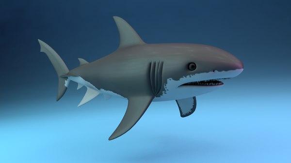 white shark 3D model