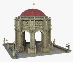 3D classic dome model