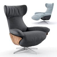 3D ilia recliner chair natuzzi