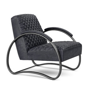 3D armchair dialma brown model