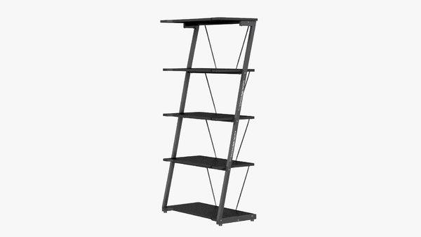 3D shelves black jysk
