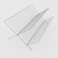 3D plate racks ikea kvot model