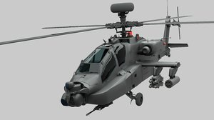ah apache attack helicopter 3D model