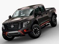 Nissan Titan 2017 Pickup truck low-poly
