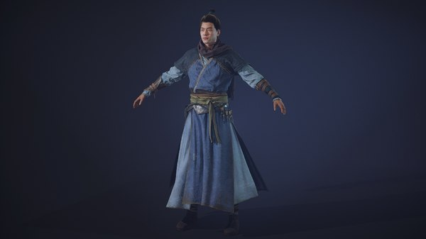 chinese warrior 3D model