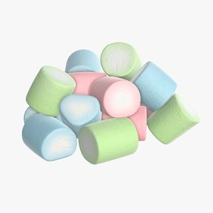 marshmallow candy cylindrical model
