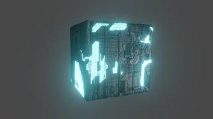 space cube 3D model