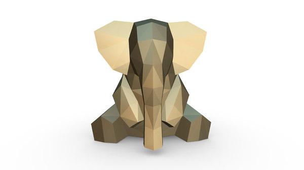 3D printed elephant figure