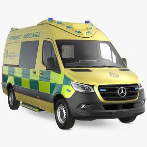 3D mercedes benz sprinter emergency model