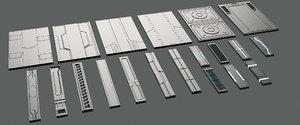 3D 20 sci-fi panels