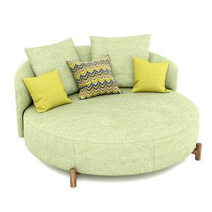 sofa amalia 3D model