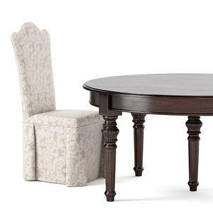 table chair 3D model