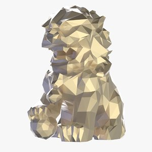3D model chinese lion statue