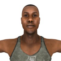 3D rigged black man characters