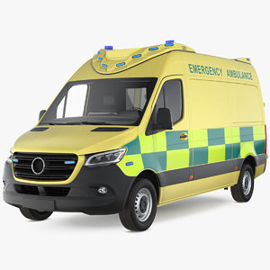 emergency ambulance generic 3D