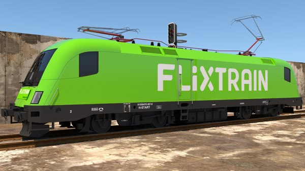 siemens train flixtrain 3D model
