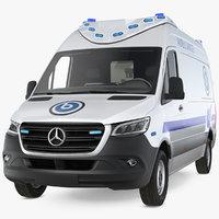 mercedes benz sprinter ambulance 3D model