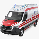 modern paramedic ambulance 3D model