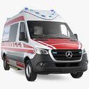 3D paramedic mercedes benz sprinter