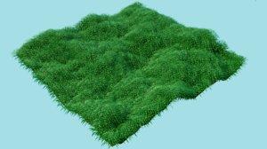 3D field grass dirt model