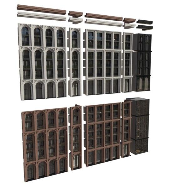 facade 3D model