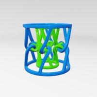 3D sculptures abstract art