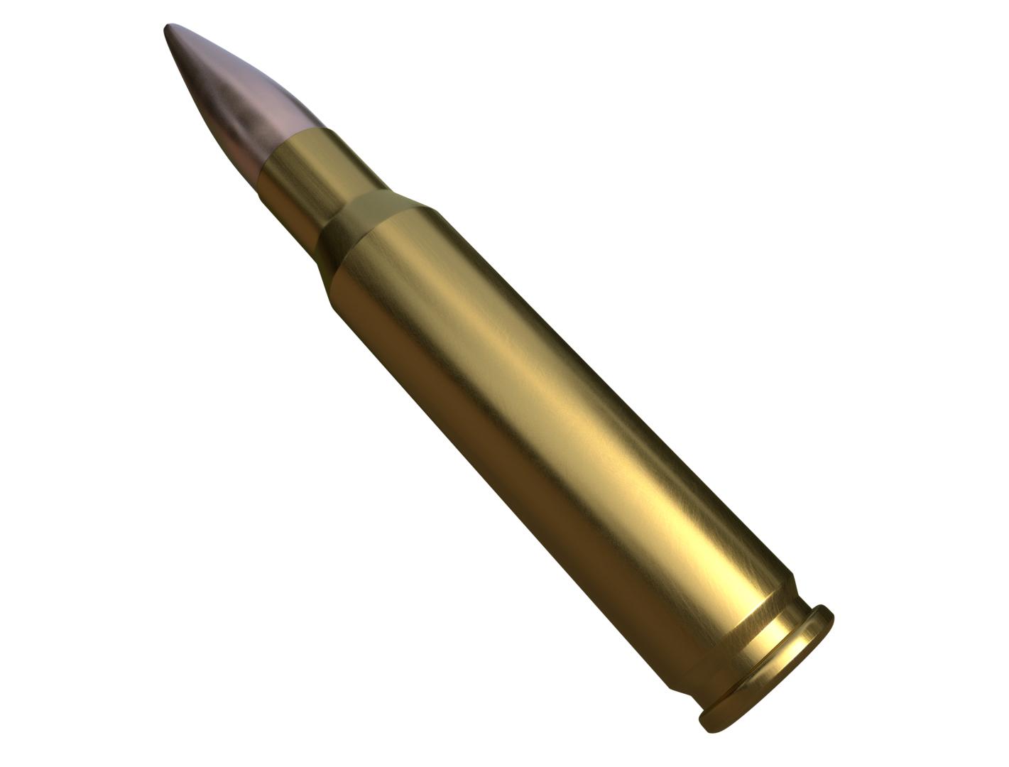 3D rifle bullet model