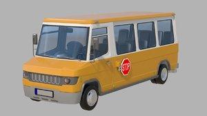 3D model school bus