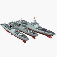 chinese navy type 055 3D model