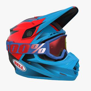 bell motorcycle helmet moto 3D