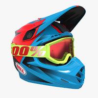 bell off-road motorcycle helmet 3D model