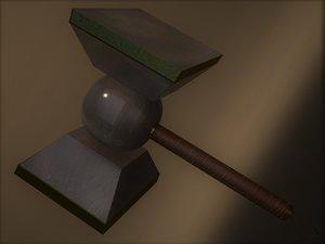 3D model hammers unworthy thor mjolnir