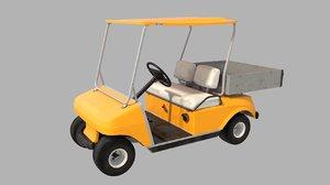 3D model golf car cart