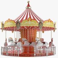 3D model real horse carousel