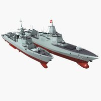 3D chinese navy type 055