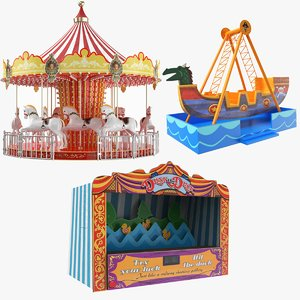 amusement carousel ride 3D model