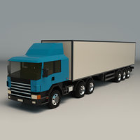 Low Poly Cargo Truck 02